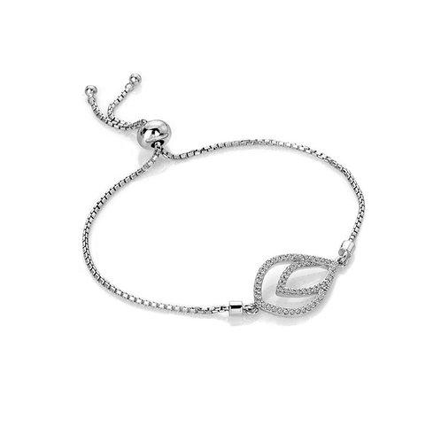 Hot Diamonds Sterling Silver Harmony White Topaz Bracelet - DL592