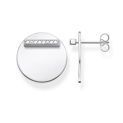 Thomas Sabo Sterling Silver Together Forever Earrings - H2096-051-14