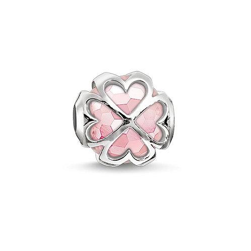 Thomas Sabo Karma Pink Cloverleaf Silver Bead Charm - K0170-034-9