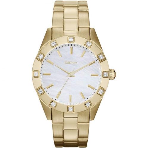 DKNY Ladies Gold Tone Jitney Round Watch - NY8661