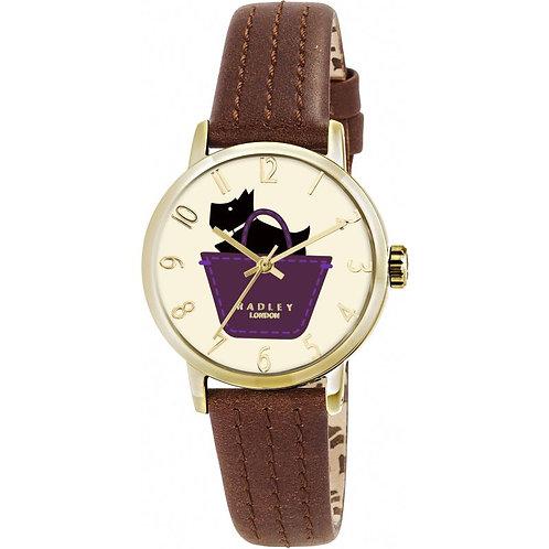 RADLEY Ladies Basket Dog with Tan Leather Strap Watch - RY2290