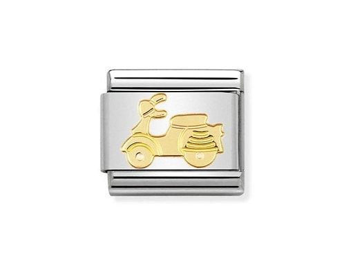 Nomination Gold Vespa Scooter Charm Link - 030108/06