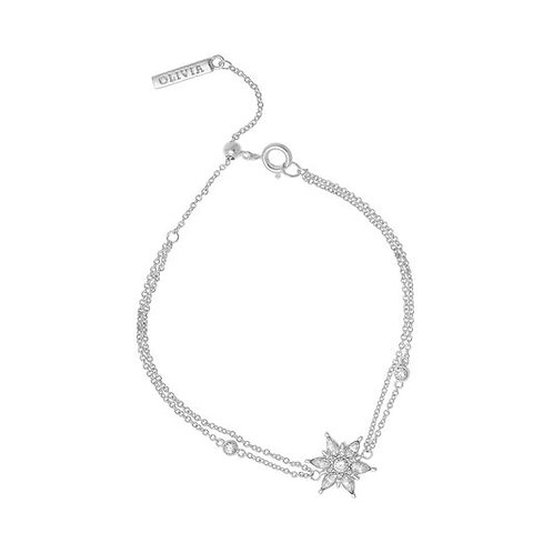 Olivia Burton Snowflake Silver Chain Bracelet - OBJIQB01