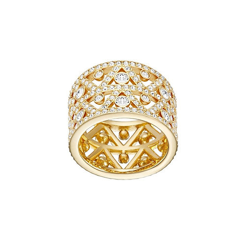 SWAROVSKI Dazzling Gold Tone Ring Clear Crystal