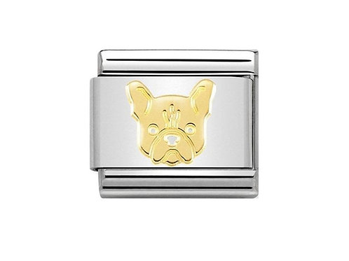 Nomination Gold French Bulldog Charm Link - 030162/54