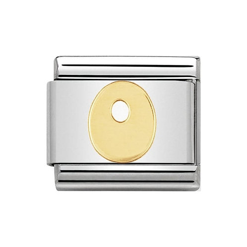 Nomination Gold Initial O Charm Link -030101/15