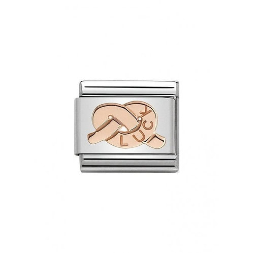 Nomination Rose Gold Luck Knot Charm Link - 430101/23