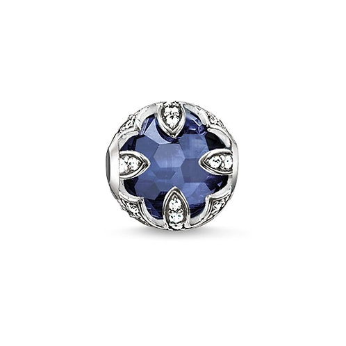 Thomas Sabo Karma Faceted Dark Blue Lotus Charm -K0142-640-32
