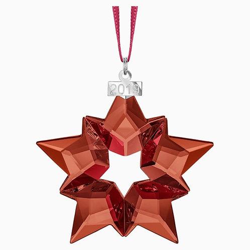 SWAROVSKI 2019 Annual Edition Red Snowflake Ornament