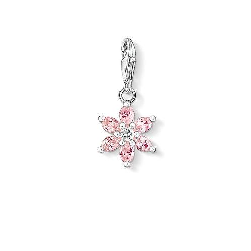 Thomas Sabo Silver Pink CZ Flower Charm - 0331-051-9