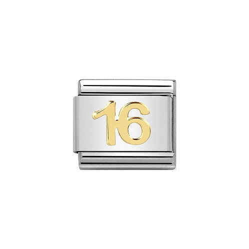Nomination Gold Sweet 16 Charm Link - 030109/35