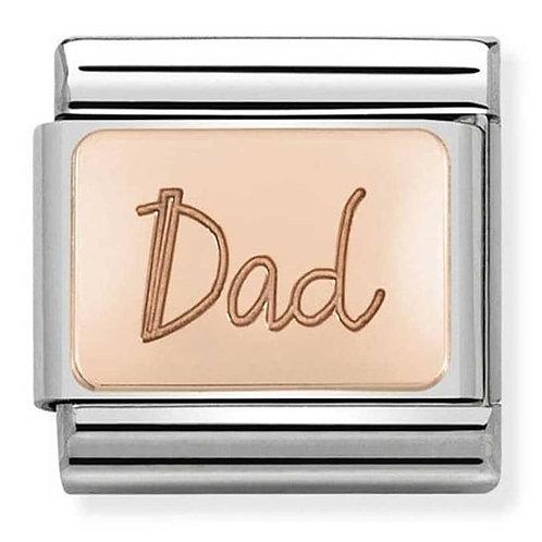 Nomination Rose Gold Dad Plates Charm Link - 430101/32