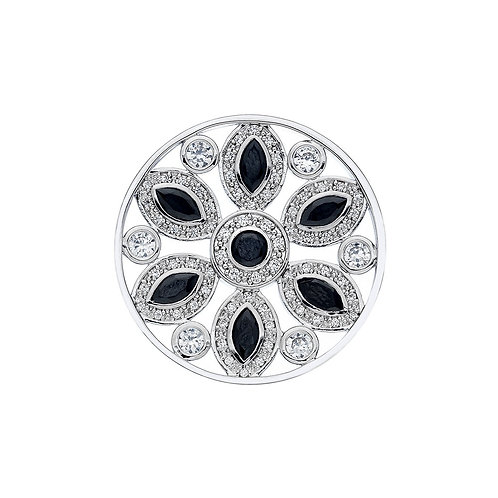 Emozioni by Hot Diamonds Spirituality Black CZ Coin - EC385