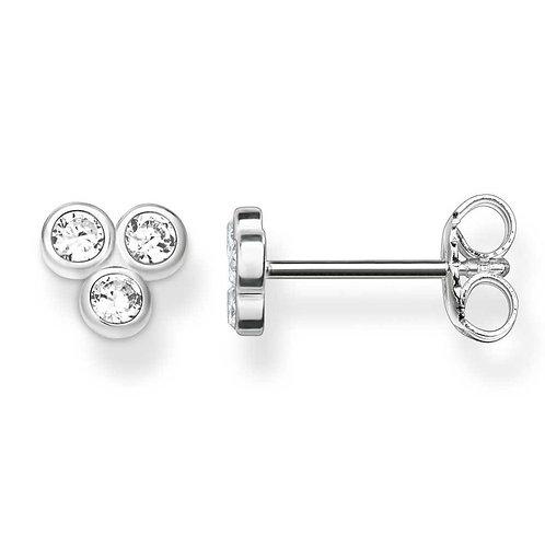 Thomas Sabo Silver Cubic Zirconia Stud Earrings - H1921-051-14