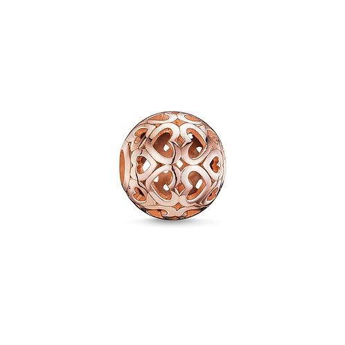 Thomas Sabo Karma Rose Gold Tone Row of Hearts Bead Charm -K0018-415-12