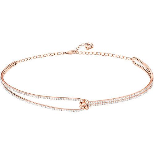 SWAROVSKI Lifelong Clear Crystal Rose Gold Choker Necklace - 5392925
