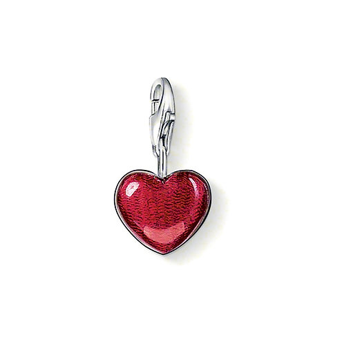 Thomas Sabo Sterling Silver Red Heart Charm - 0783-007-10