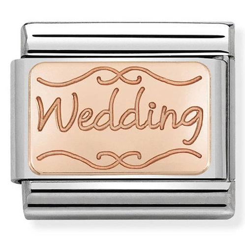 Nomination Rose Gold Wedding Plates Charm Link - 430101/40