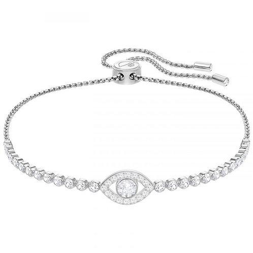SWAROVSKI Subtle Evil Eye Bracelet in Rhodium and Clear Crystal  - 5368546