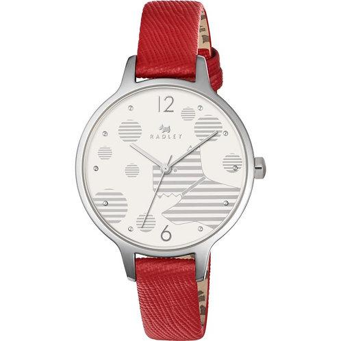 RADLEY Ladies Ormond Blazer Red Leather Strap Watch - RY2395