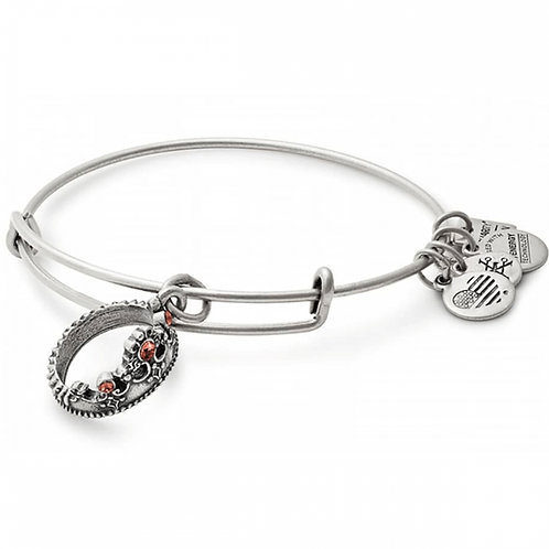 Alex and Ani Rafaelian Silver 'Queen's Crown' Charm Bangle - A17INTQCRS