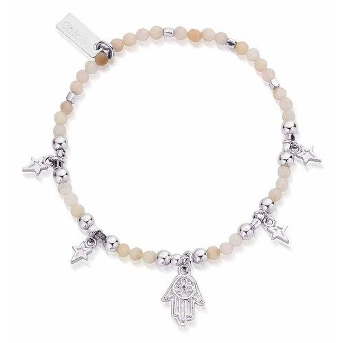 ChloBo Sterling Silver Pink Opal Five days of Luck Bracelet - SBP02005