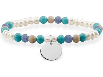 Thomas Sabo Love Bridge Mixed Beads Bracelet - LBA0112-200-7-L16,5