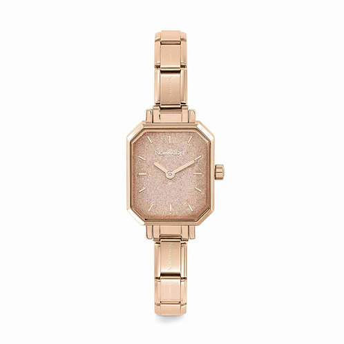 Nomination Composable Rose Gold Pink Glitter Dial Watch - 076031/025