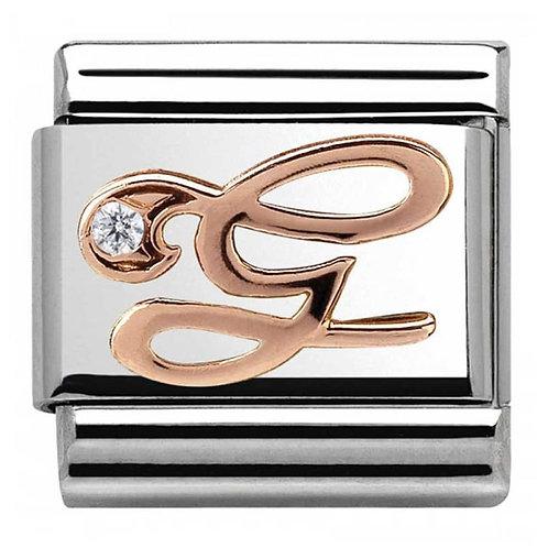 Nomination Rose Gold G Letter Charm Link  - 430310/07