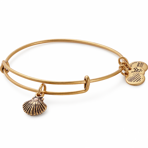 Alex and Ani Rafaelian Gold 'Seashell' Charm Bangle - A17EBSEASRG
