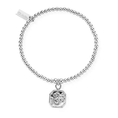 ChloBo Silver Cute Charm Om Bracelet - SBCC627