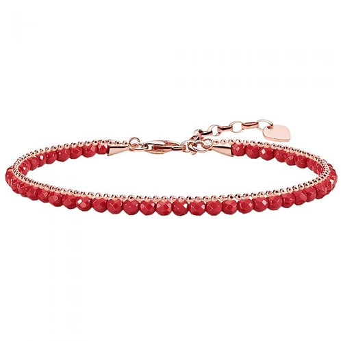 Thomas Sabo Glam and Soul Red Coral and Rose Gold Bracelet