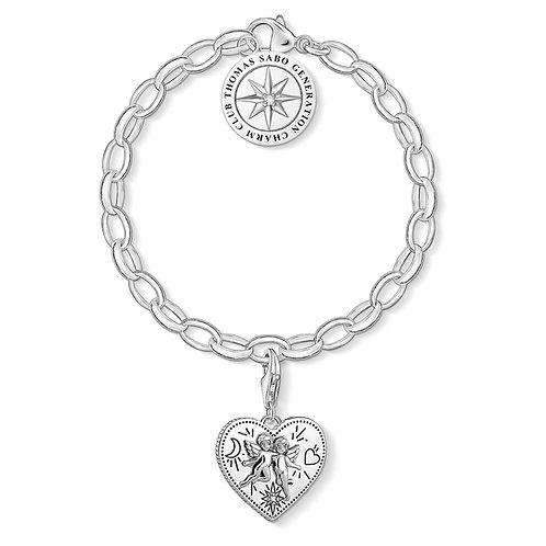 Thomas Sabo Sterling Silver Charm Bracelet - SET0554-643-14