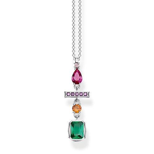 Thomas Sabo Sterling Silver Colourful Mix Necklace- KE1892-342-7
