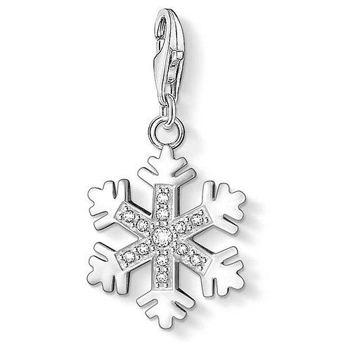 Thomas Sabo Silver Snowflake Charm - 0608-051-14