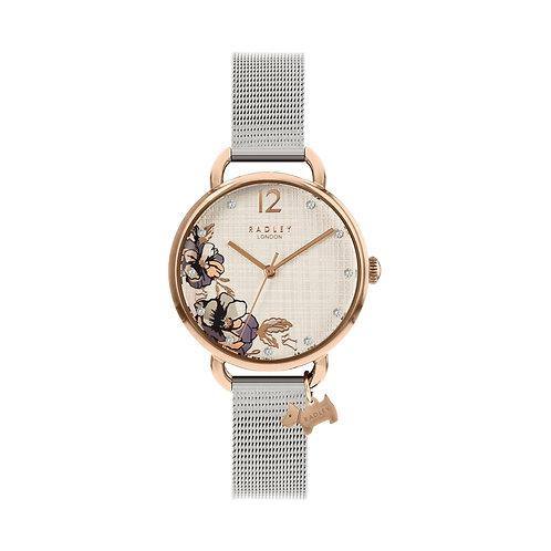 RADLEY Ladies Stainless Steel Rose Gold Tone Mesh Strap Watch - RY4525