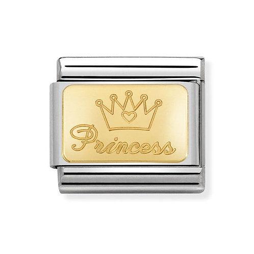 Nomination Gold Princess Charm Link -030121/47