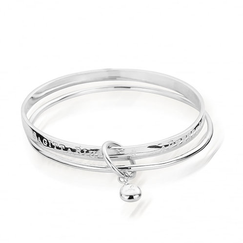 ChloBo Sterling Silver SAGITTARIUS Starsign Bangle
