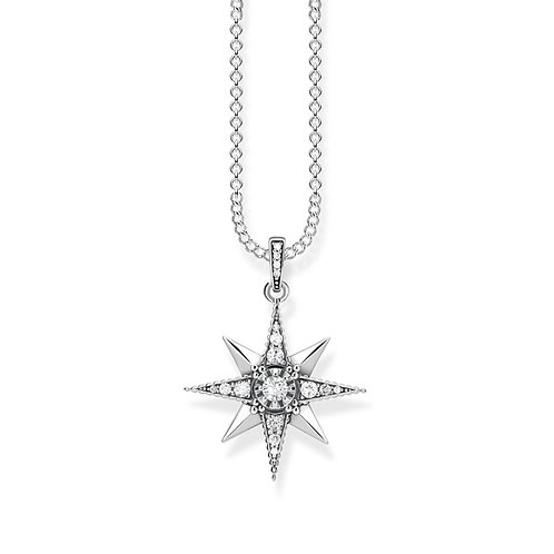 Thomas Sabo Sterling Silver Royalty Star Necklace - KE1825-643-14