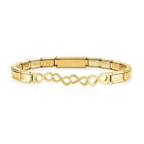 Nomination Trendsetter Infinity Symbol Yellow Gold Bracelet 021111/009