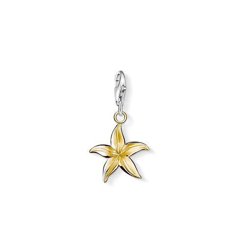 Thomas Sabo Silver Gold Starfish Charm - 0950-413-12