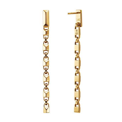 Michael Kors Yellow Gold Mercer Link Drop Earrings