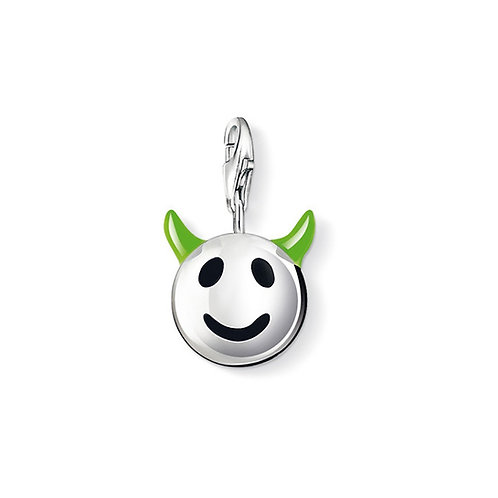 Thomas Sabo Silver Funny Face Green Horned Charm - 0730-007-6