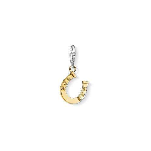 Thomas Sabo Silver Gold Horseshoe Charm - 0940-413-12