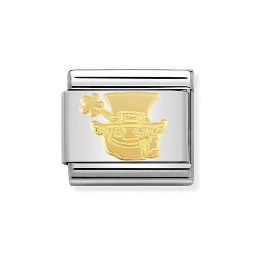 Nomination Gold Classic Irish Leprechaun Charm Link - 030149/13