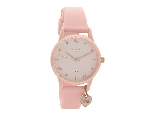 RADLEY Ladies Hearts and Stars Light Pink Silicone Strap Watch - RY2730