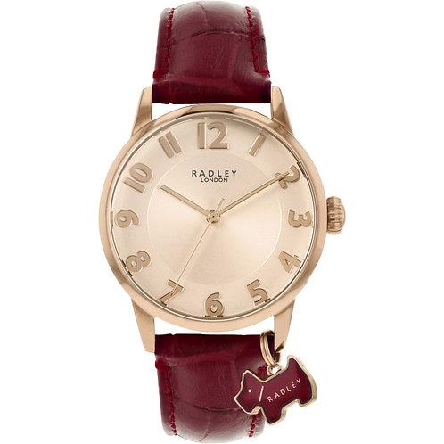 RADLEY Ladies Burgundy Red Leather Strap Watch - RY2866