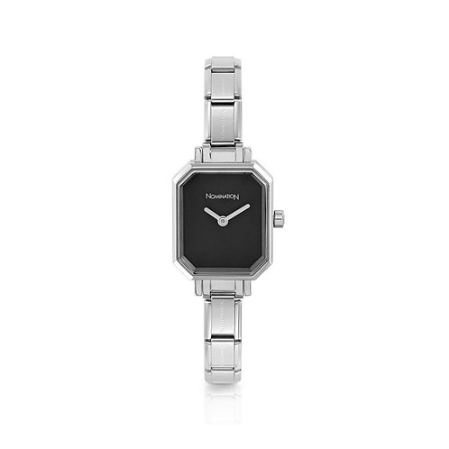 Nomination Composable Stainless Steel Black Dial Watch - 076030/012