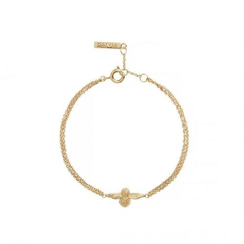 Olivia Burton Sparkle Bee Gold Tone Silver Chain Bracelet - OBJAMB121