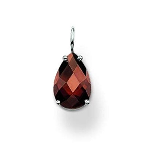 Thomas Sabo Silver with Brown CZ Teardrop Pendant - PE523-051-2